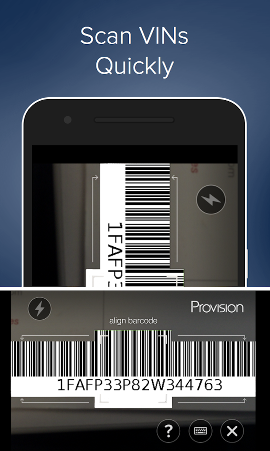 Provision- screenshot