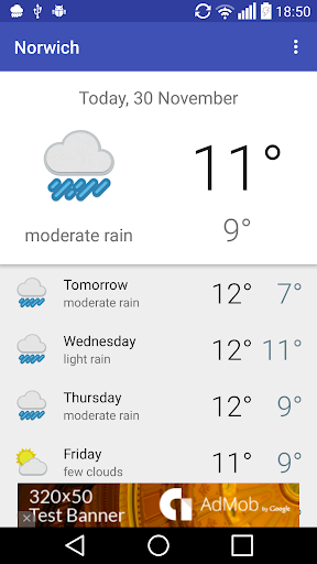 Norwich GB - weather