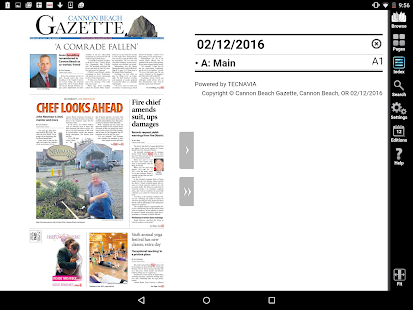 Cannon Beach Gazette e-Edition- screenshot thumbnail