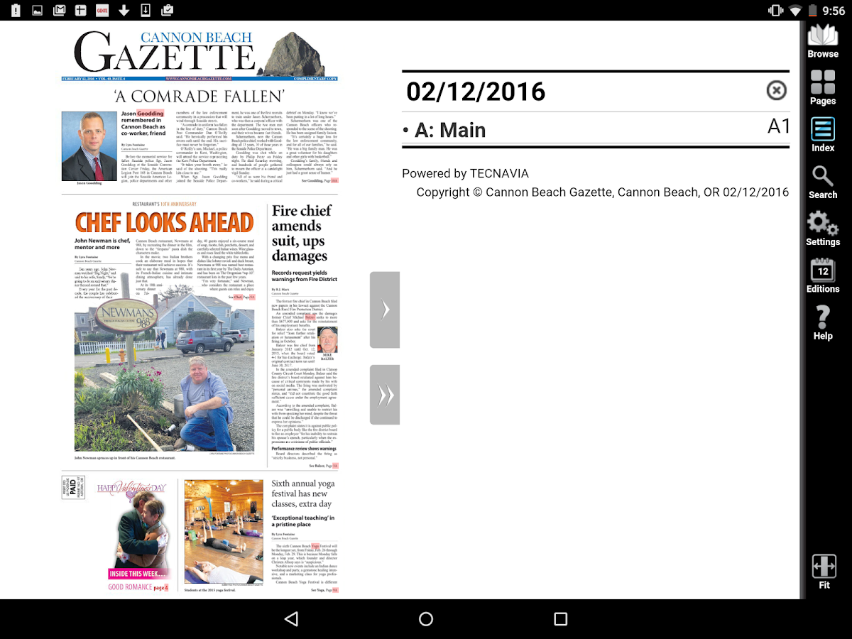 Cannon Beach Gazette e-Edition- screenshot