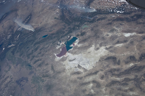 An Expedition 31 crew member aboard the International Space Station recorded a series of images of the current wild fires in the United States.