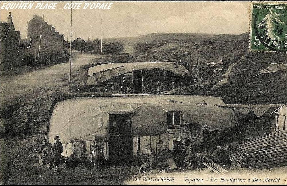 Equihen Plage, a vila dos barcos virados