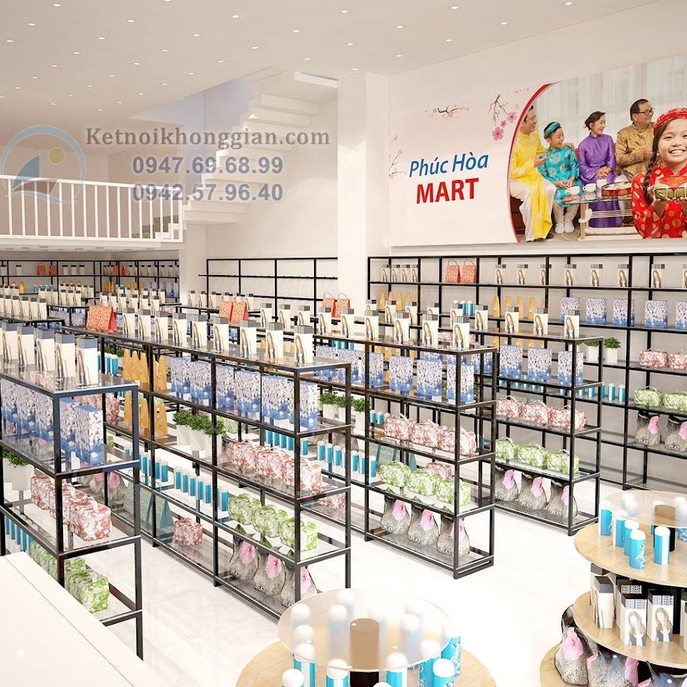 thiết kế siêu thị mini sáng thoáng rộng rãi