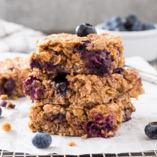 Blueberry Banana Almond Butter Oat Bars Recipe