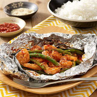 Grilled Spicy Shrimp Foil Packets