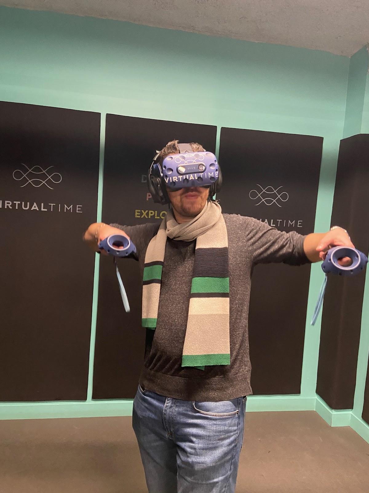 Mise en pratique de la réalité virtuelle avec manette