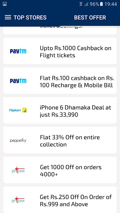Cashback India Coupons Deals- screenshot