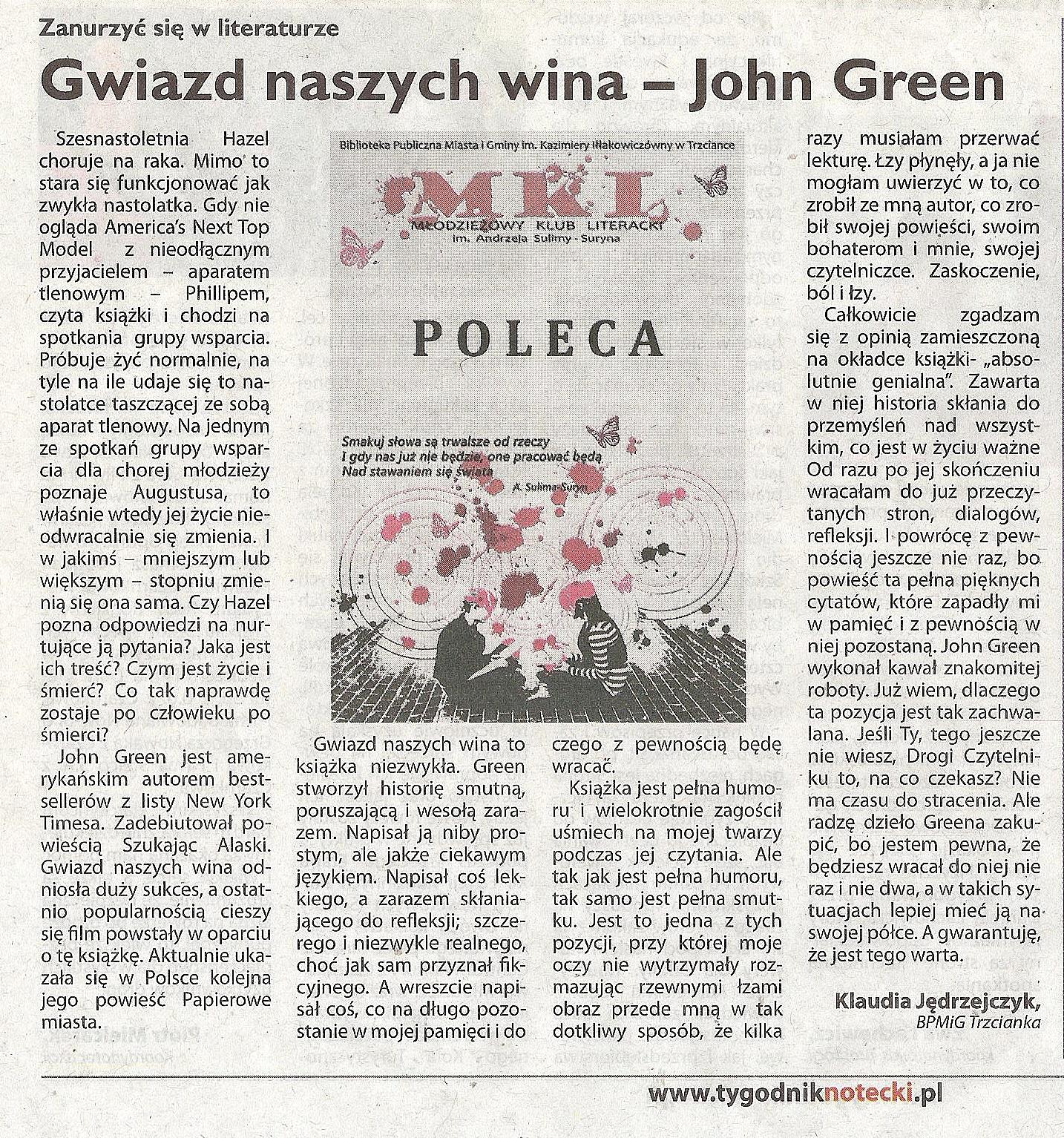 Photo: http://szeptksiazek.blogspot.com/2013/05/gwiazd-naszych-wina-john-green.html