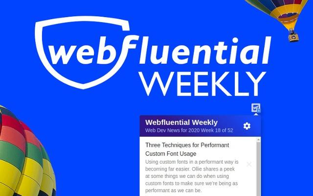 Webfluential Weekly