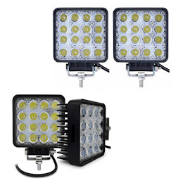 Set 4 x proiector LED auto offroad 48W