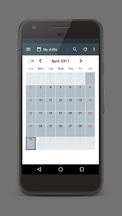 Shift Calendar Screenshot