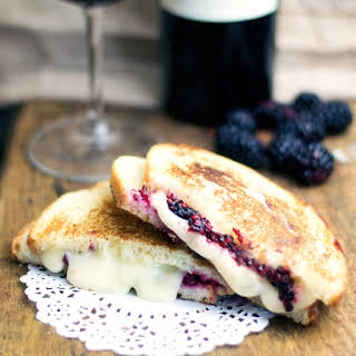 Blackberry & Brie Grilled Cheese Sandwich.