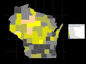 Photo: Total eBird Checklists as of 1 Nov 2009. Data are from http://ebird.org/content/ebird/about/county_birding