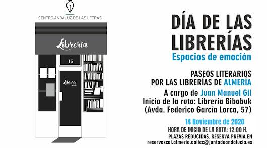 Paseo literario por las librerías almerienses a cargo de Juan Manuel Gil