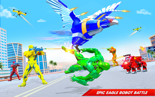Flying Police Eagle Bike Robot Hero: Robot Games 29 screenshots 6