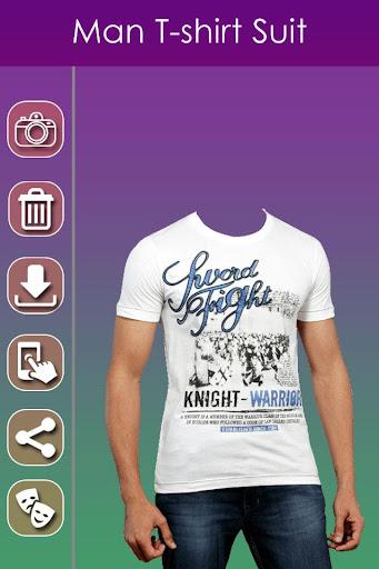 Man T-shirt Photo Suit