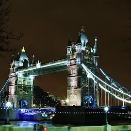 Tower Bridge by Peter Salmon - City,  Street & Park  Street Scenes