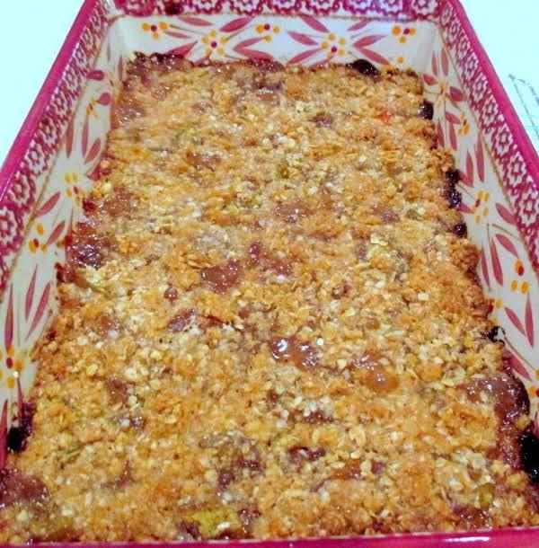 ~  Rhubarb Crunch ~ Recipe
