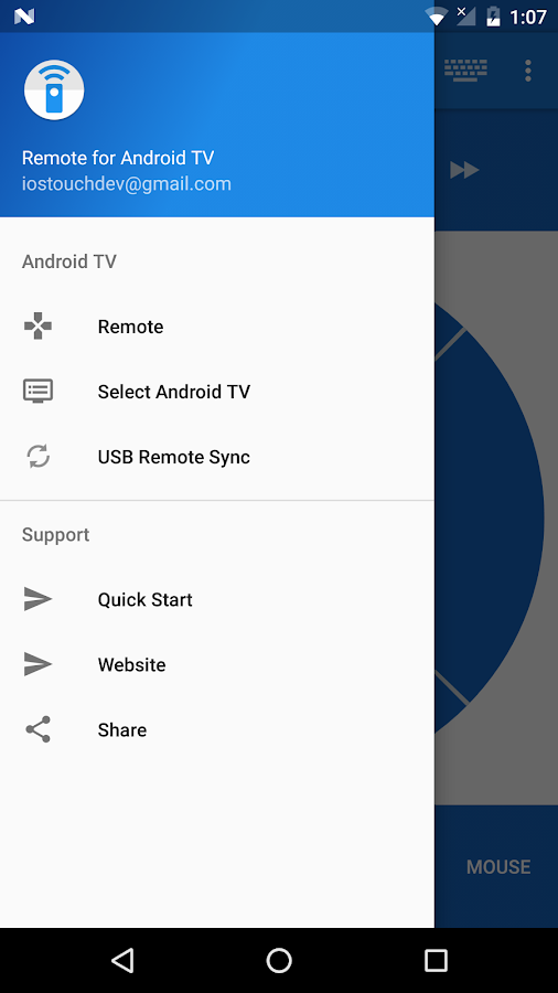 Remote for Android TV- screenshot