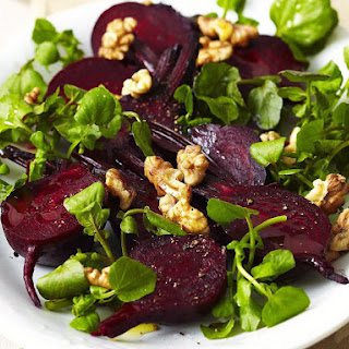 Beet Salad with Watercress and Walnuts