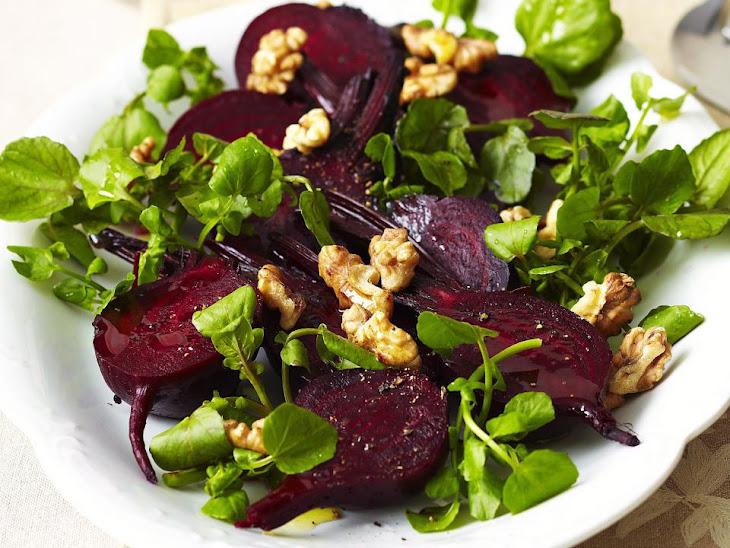Beet Salad with Watercress and Walnuts Recipe | Yummly