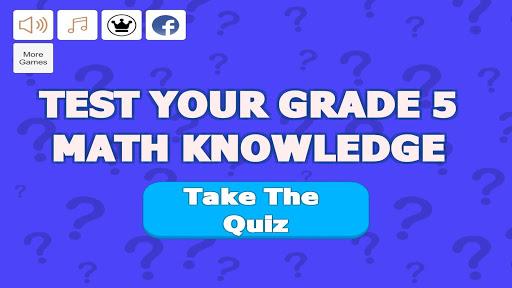 Grade 5 Math Trivia  screenshots 1