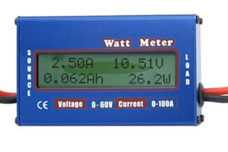 Effektmåler, 0-60V, 0-100A