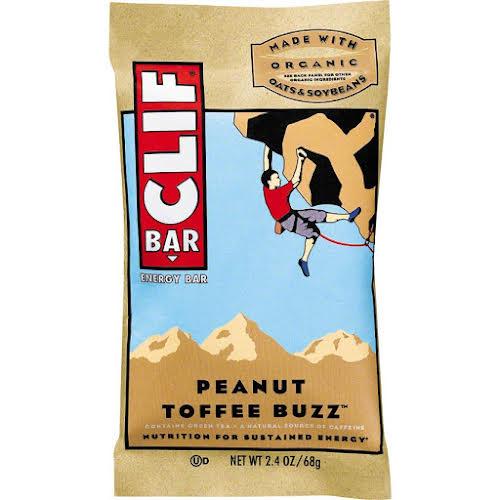 Clif Bar Original: Peanut Toffee Buzz with Caffeine Box of 12