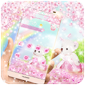 Pink Bear Flower Theme