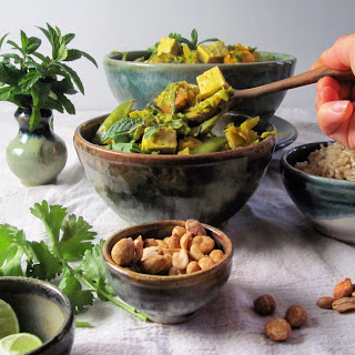 Thai Coconut Curry with Brussels Sprouts and Tofu