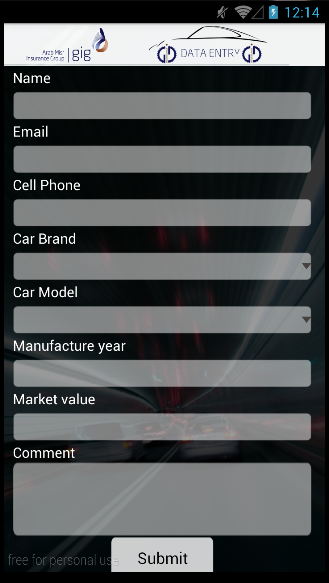 gig Motor Mobile App- screenshot