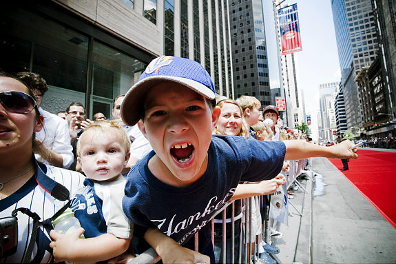 Photo: All Star Parade on 6ht Ave btwn 42 St. and 59th St. Pictured- Josh Taylor   Original Filename: rgill_mets02.jpg