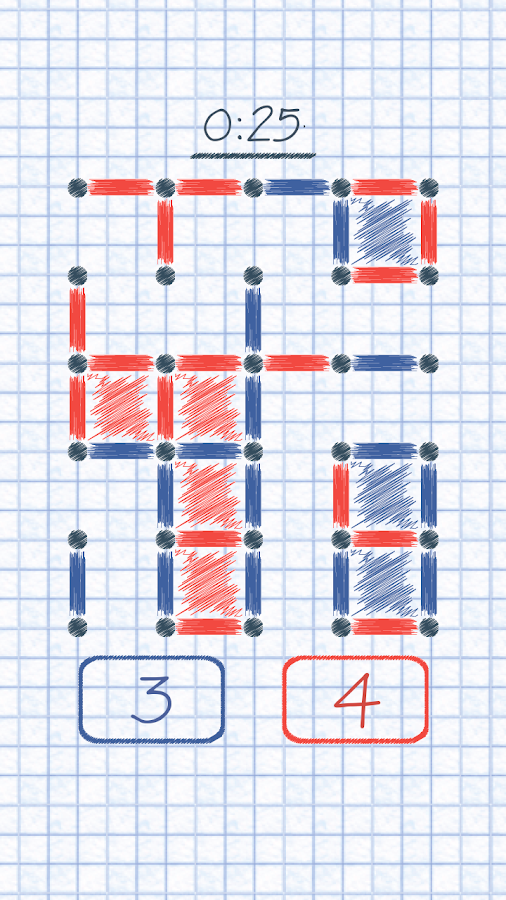 Dots and Boxes!- screenshot