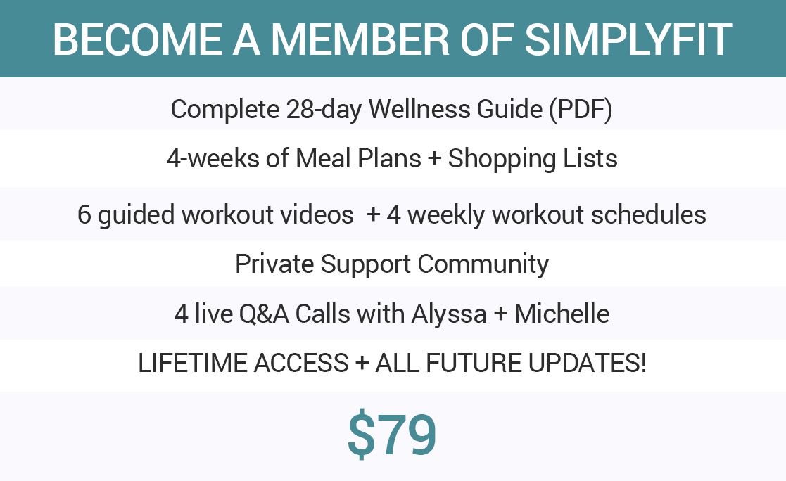 Join the SimplyFit 28-day Wellness Program for 15% off!