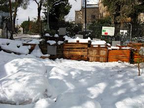 Photo: שלג בגינה הקהילתית
