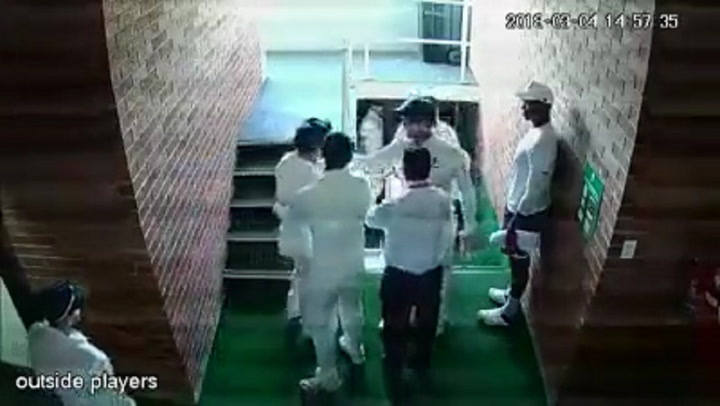 CCTV footage has emerged of what looks like a confrontation between cricketers Quinton de Kock and Australian player David Warner on Sunday, March 4 2018.