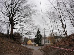 Photo: przejście dla pieszych, po lewej Strzyża a po prawej VII Dwór
