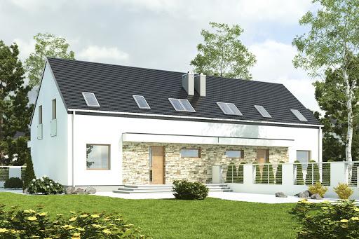projekt Sosnówka bez garażu bliźniak B-BL1