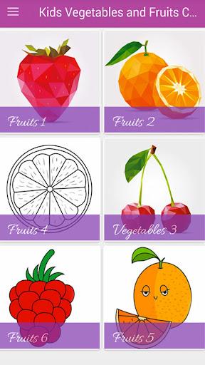 Kids Vegetables & Fruits Coloring Book 1.11.1 screenshots 1