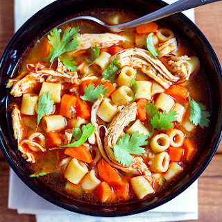 Spicy Chicken Pasta Soup.