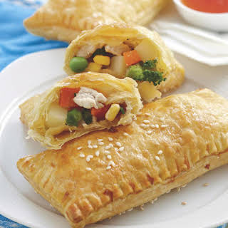 Chicken and Veggie Turnovers.
