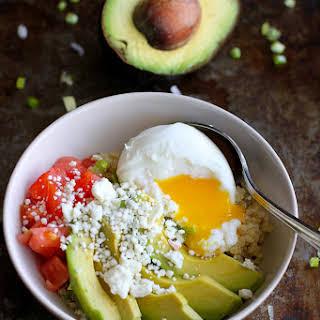 Quinoa Avocado Breakfast Bowl.