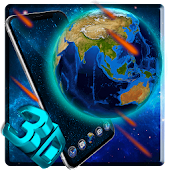 3d Earth Meteor Theme