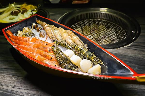 好客海鮮炭火燒肉吃喝到飽忠孝店-吃燒肉欣賞東區夜景
