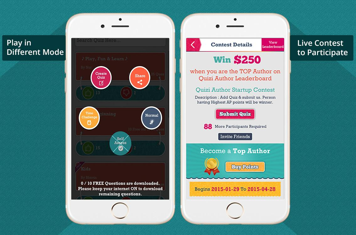 Quizi - Play, Make Quiz & Earn- screenshot