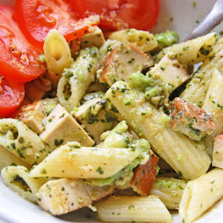 Pesto Pasta Salad With Avocado And Smoked Tofu