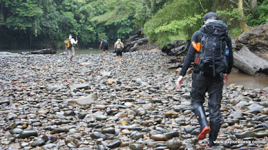 Photo: Trek to Tanjung Lokang, follow the Bungan River 6-7 hours