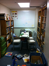 Photo: I got to see their library. It is very small, but well stocked with books. They have reading programs and tutors, too.