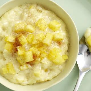Pineapple Rice Pudding.