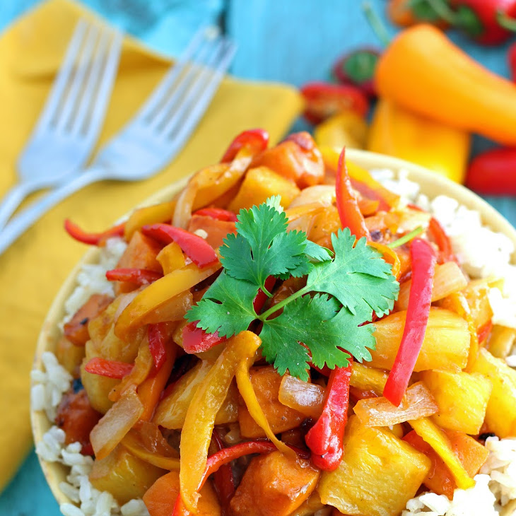 {Healthy} Vegetarian Sweet and Sour Stir Fry Recipe